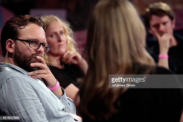 Christoph Groener Sylke Enders and Christian Bach attend the 'Neues Deutsches Kino' Panel as part of Filmfest Muenchen at Gasteig on July 3 2014 in...