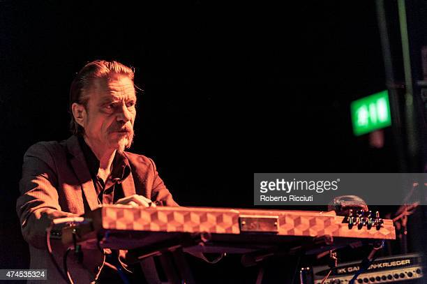 Christoph Hahn of Swans performs on stage at Glasgow Art School on May 23, 2015 in Glasgow, United Kingdom