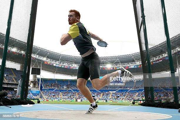 Christoph Harting of Germany competes in the Men's Discus qualification on Day 7 of the Rio 2016 Olympic Games at the Olympic Stadium on August 12...