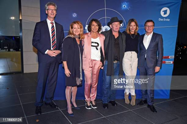 Christoph Hauser Heike Raab Ulrike Folkerts Ben Becker Lisa Bitter and Volker Herres attend the 30th anniversary of Tatort with Lena Odenthal on...