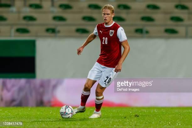 Christoph Klarer of Austria controls the ball during the UEFA Euro Under 21 Qualifier match between Austria U21 and England U21 at Keine Sorgen Arena...