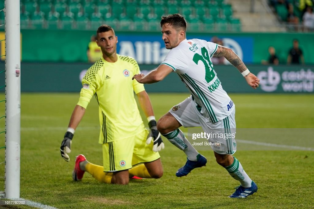 SK Rapid v Slovan Bratislava - UEFA Europa League Third Round Qualifier: Second Leg