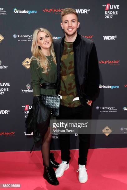 Christoph Kramer and his girlfriend Celina attends the 1Live Krone radio award at Jahrhunderthalle on December 07 2017 in Bochum Germany