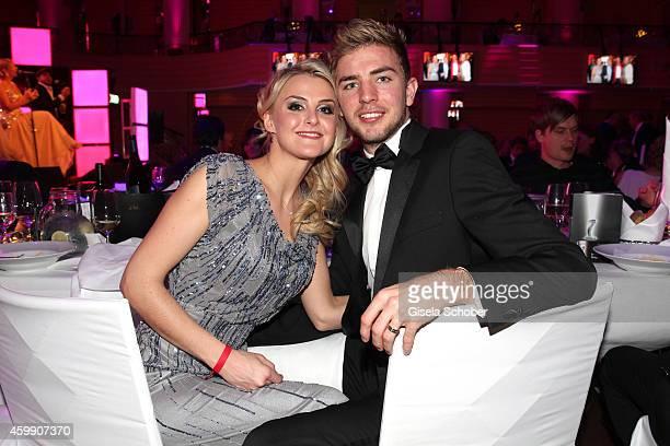 Christoph Kramer and his girlfriend Celina Scheufele during the Audi Generation Award 2014 at Hotel Bayerischer Hof on December 3, 2014 in Munich,...