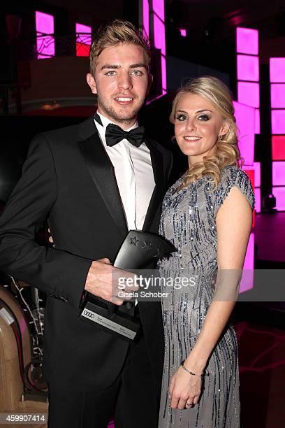 Christoph Kramer; and his girlfriend Celina Scheufele during the Audi Generation Award 2014 at Hotel Bayerischer Hof on December 3, 2014 in Munich,...