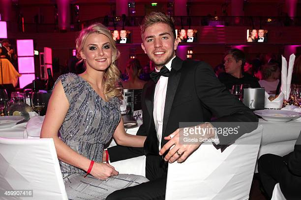 Christoph Kramer and his girlfriend Celina Scheufele during the Audi Generation Award 2014 at Hotel Bayerischer Hof on December 3 2014 in Munich...