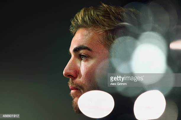 Christoph Kramer attends a Germany prerss conference ahead of their UEFA EURO 2016 qualifying match against Poland at CommerzbankArena on October 9...