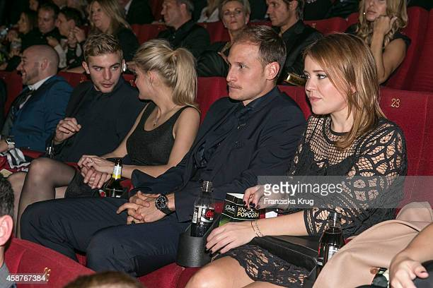 Christoph Kramer Celina Lauterbach Benedikt Hwedes and Lisa Wesseler attend the 'Die Mannschaft' Premiere at Sony Centre on November 10 2014 in...