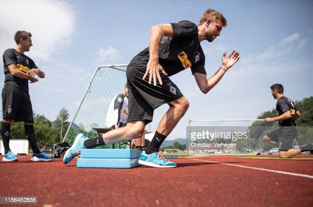 Christoph Kramer in action during a training session at the Borussia Moenchengladbach Training Camp on July 19, 2019 in Rottach-Egern, Germany.