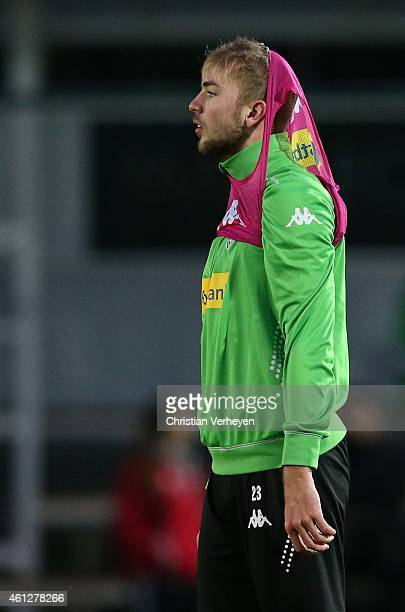 Christoph Kramer of Borussia Moenchengladbach during a training session on day three of Borussia Moenchengladbach training camp on January 10 2015 in...