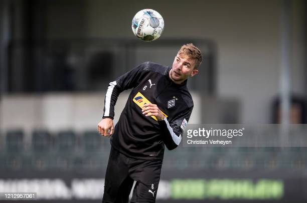 Christoph Kramer of Borussia Moenchengladbach in action during a training session of Borussia Moenchengladbach at BorussiaPark on May 14 2020 in...