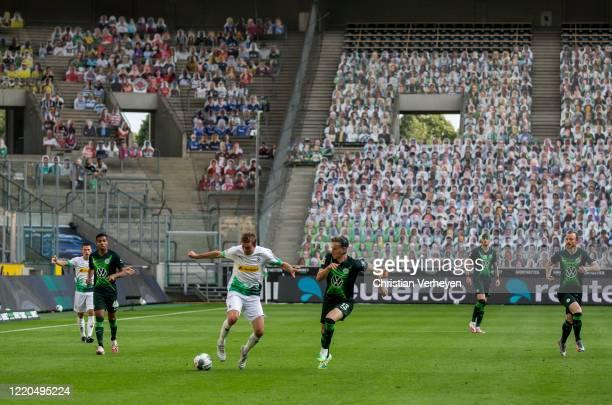 Christoph Kramer of Borussia Moenchengladbach in action during the Bundesliga match between Borussia Moenchengladbach and VfL Wolfsburg at...