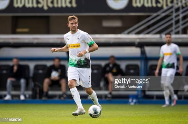 Christoph Kramer of Borussia Moenchengladbach in action during the Bundesliga match between SC Paderborn and Borussia Moenchengladbach at...