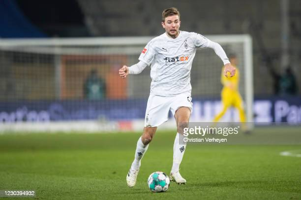 Christoph Kramer of Borussia Moenchengladbach in action during the Bundesliga match between DSC Arminia Bielefeld and Borussia Moenchengladbach at...