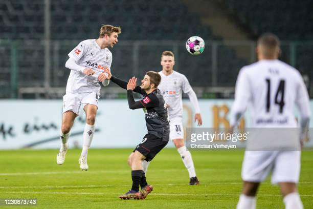 Christoph Kramer of Borussia Moenchengladbach in action during the Bundesliga match between Borussia Moenchengladbach and SV Werder Bremen at...