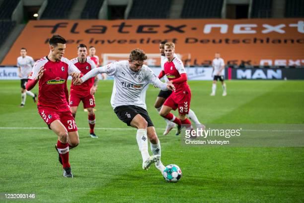 Christoph Kramer of Borussia Moenchengladbach in action during the Bundesliga match between Borussia Moenchengladbach and SC Freiburg at...