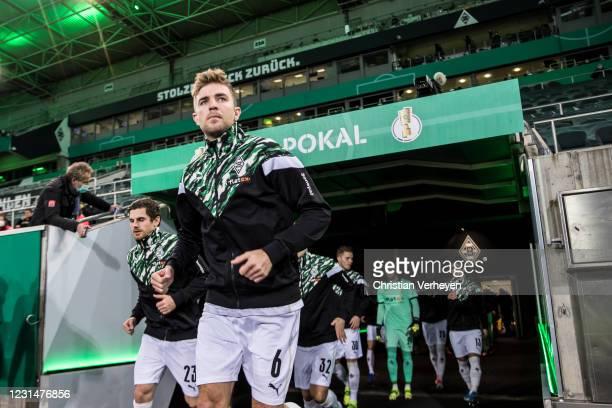 Christoph Kramer of Borussia Moenchengladbach is seen before the DFB Cup Quarter Final match between Borussia Moenchengladbach and Borussia Dortmund...