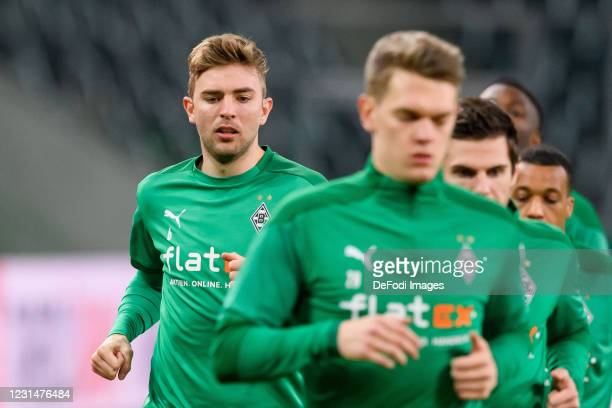 Christoph Kramer of Borussia Moenchengladbach looks on during the DFB Cup quarter final match between Borussia Mönchengladbach and Borussia Dortmund...
