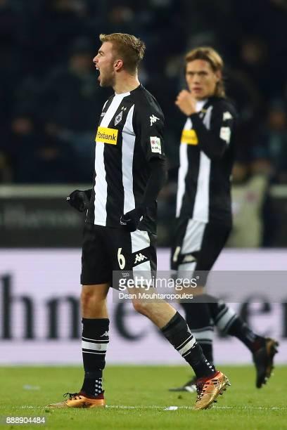 Christoph Kramer of Moenchengladbach celebrates after he scored a goal to make it 10 during the Bundesliga match between Borussia Moenchengladbach...