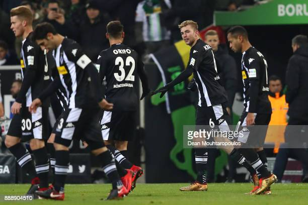 Christoph Kramer of Moenchengladbach celebrates after he scored a goal to make it 10 during the Bundesliga match between Borussia Moenchengladbach...