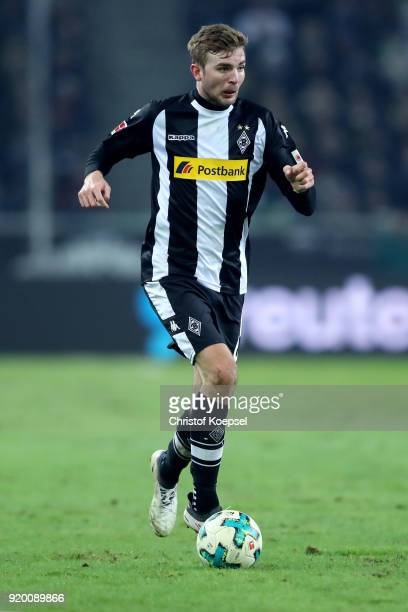 Christoph Kramer of Moenchengladbach runs with the ball during the Bundesliga match between Borussia Moenchengladbach and Borussia Dortmund at...