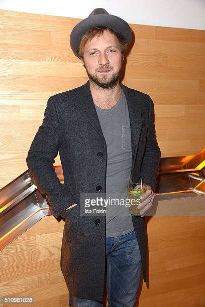Christoph Letkowski attends the PantaFlix Party on February 17 2016 in Berlin Germany