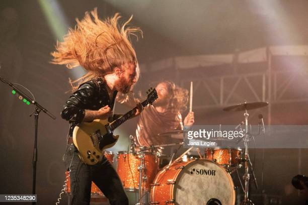 September 18: Christoph Lindemann of Kadavar performs live on stage during day 2 of Pure & Crafted Festival in Berlin on September 18, 2021 in...