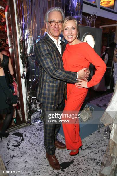 Christoph M Ohrt and his girlfriend Dana Golombek during the PLACE TO B Berlinale party of BILD at Borchardt Restaurant on February 9 2019 in Berlin...