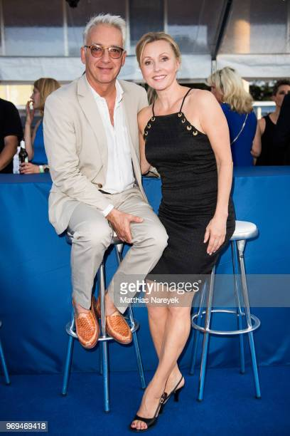 Christoph M Orth and Dana Golombeck attend the Summer Party of the German Producers Alliance on June 7 2018 in Berlin Germany