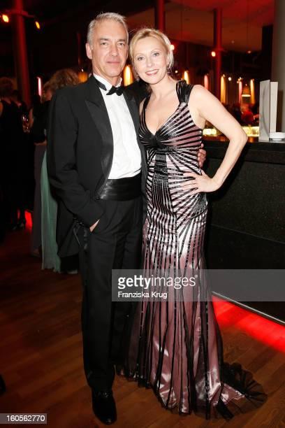 Christoph M Orth and Dana Golombek attend 'Goldene Kamera 2013' at Axel Springer Haus on February 2 2013 in Berlin Germany