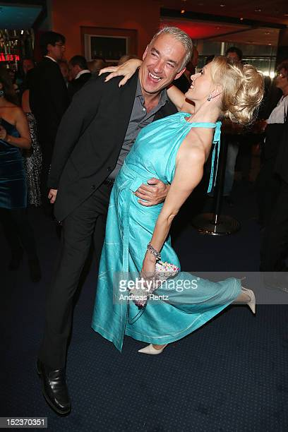 Christoph M Orth and Dana Golombek attend the 'Goldene Henne' 2012 award after show party on September 19 2012 in Berlin Germany