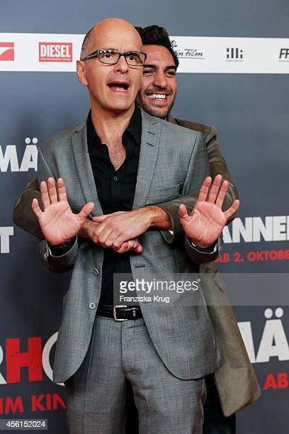 Christoph Maria Herbst and Elyas M'Barek attend the 'Maennerhort' Berlin Premiere on September 2, 2014 in Berlin, Germany.