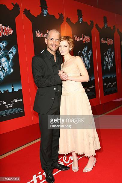 Christoph Maria Herbst and girlfriend Marie Zielcke With The Arrival to New From Wixxer Premiere In Mathäser Filmpalast In Munich