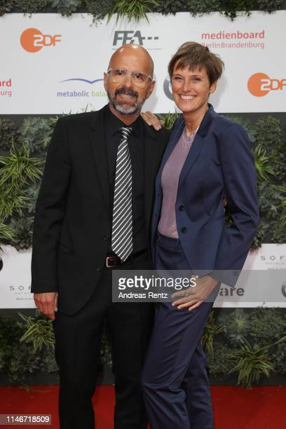 Christoph Maria Herbst and Gisi Herbst attend the Lola German Film Award red carpet at Palais am Funkturm on May 03 2019 in Berlin Germany
