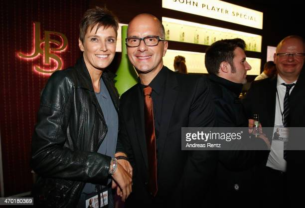 Christoph Maria Herbst and his wife Gisi Herbst attend the after show party to the World premiere of Stromberg Der Film at Diamonds on February 18...