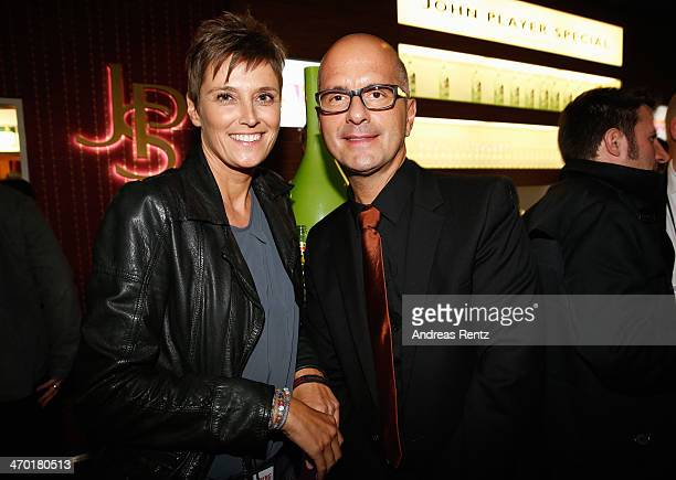 Christoph Maria Herbst and his wife Gisi Herbst attend the after show party to the World premiere of Stromberg - Der Film at Diamonds on February 18,...