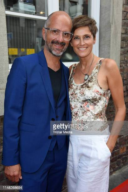Christoph Maria Herbst and his wife Gisi Herbst attend the Film und Medienstiftung NRW summer party at Wolkenburg on June 5 2019 in Cologne Germany