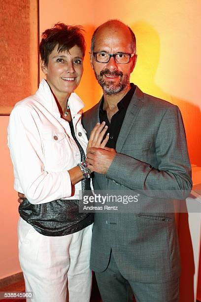 Christoph Maria Herbst and his wife Gisi Herbst attend the Film und Medienstiftung NRW summer party on June 8 2016 in Cologne Germany