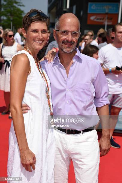 Christoph Maria Herbst and his wife Gisi Herbst attend the Kroos world premiere on June 30 2019 in Cologne Germany