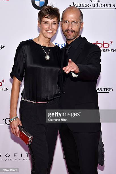 Christoph Maria Herbst and his wife Gisi Herbst attend the Lola - German Film Award on May 27, 2016 in Berlin, Germany.