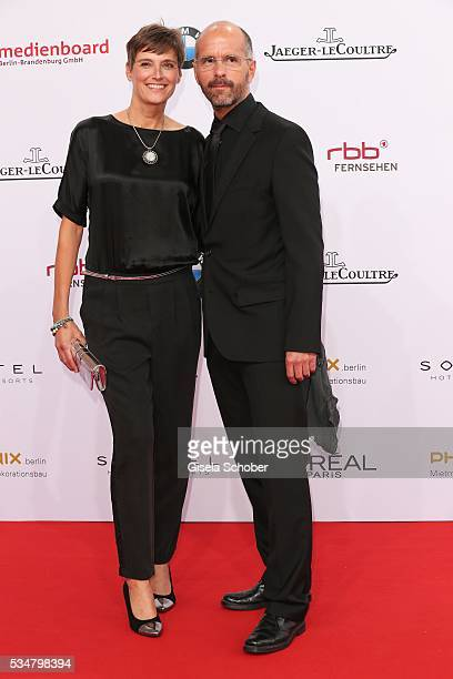 Christoph Maria Herbst and his wife Gisi Herbst attend the Lola - German Film Award 2016 on May 27, 2016 in Berlin, Germany.