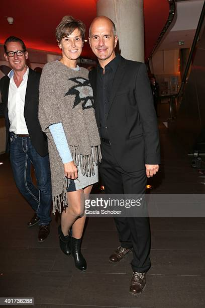 Christoph Maria Herbst and his wife Gisi Herbst during the special screening of the film 'Er ist wieder da' at Mathaeser Filmpalast on October 7 2015...