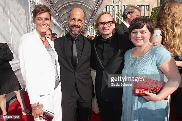 Christoph Maria Herbst and his wife Gisi Herbst Milan Peschel and his wife Magdalena Peschel attend the Lola German Film Award 2014 at Tempodrom on...