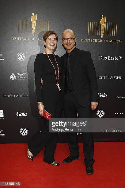 Christoph Maria Herbst and partner Gisi attend the Lola German Film Award 2012 at FriedrichstadtPalast on April 27 2012 in Berlin Germany