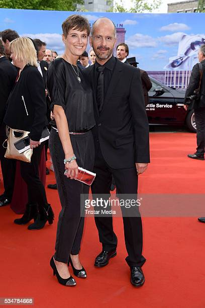 Christoph Maria Herbst and wife Gisi Herbst attend the Lola - German Film Award 2016 - Red Carpet Arrivals on May 27, 2016 in Berlin, Germany.