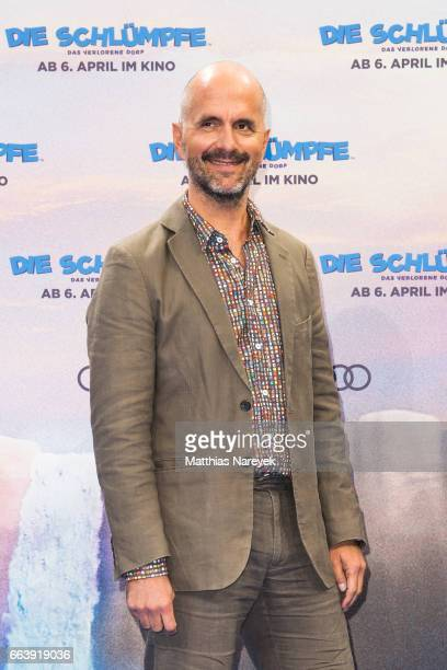 Christoph Maria Herbst attends the 'Die Schluempfe Das verlorene Dorf' Berlin Premiere at Sony Centre on April 2 2017 in Berlin Germany