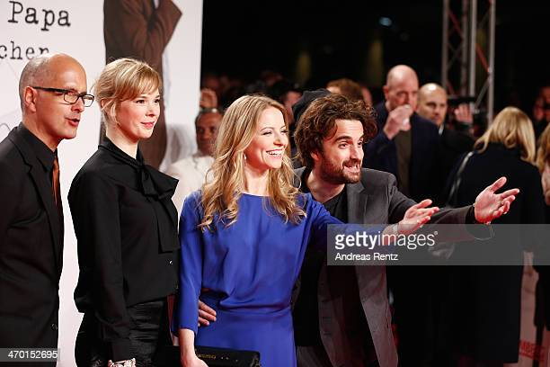 Christoph Maria Herbst Milena Dreissig Diana Staehly and Oliver K Wnuk attend the World premiere of Stromberg Der Film at Cinedom Koeln on February...