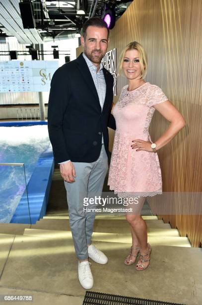 Christoph Metzelder and Annica Hansen attends the Pre Golf Party during the 9th Golf Charity Cup hosted by the Christoph Metzelder Foundation on May...