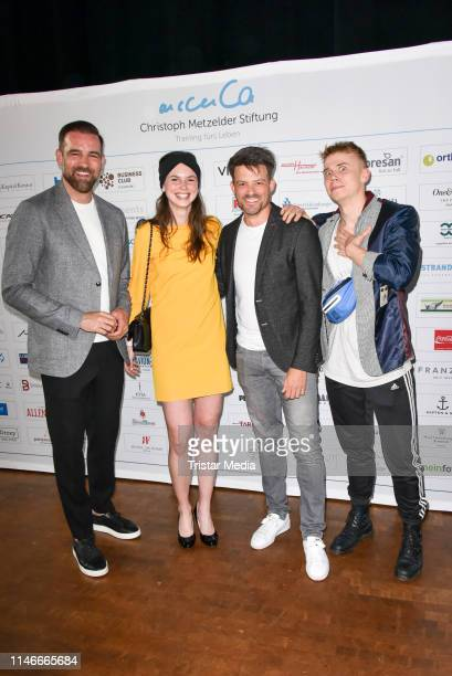 Christoph Metzelder, Irma Spies, Daniel Buder and Magnus Mariuson at the 11th Golf Charity Cup golf tournament at Golf- and Country Club Seddiner See...