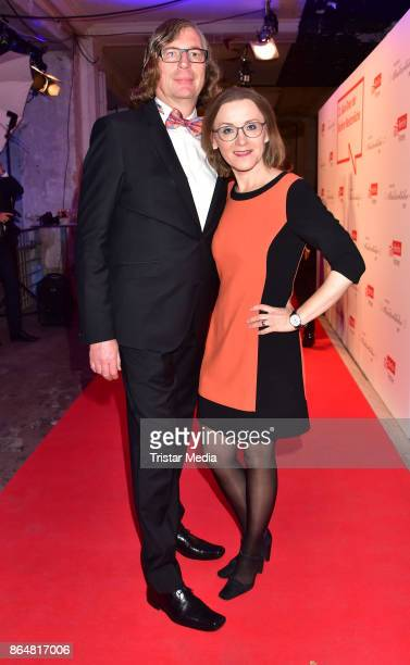 Christoph Moennikes and Sigrid Nikutta during the 21th Gala 'Berliner Meisterkoeche' on October 21 2017 in Berlin Germany